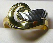 Pretis Luxusní mohutný zlatý prsten z bílého a žlutého zlata 585/2,57g P167