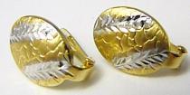 Pretis Velké mohutné zlaté náušnice v kombinaci zlata klasické zapínání 585/1,4gr P404