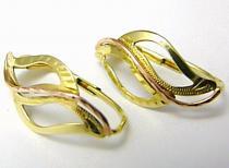 Pretis Dámské luxusní zlaté náušnice ze žlutého a červeného zlata 585/1,90gr P406