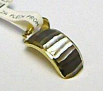 Pretis Zlatý přívěsek z bílého a žlutého zlata s gravírováním 585/0,50gr P381