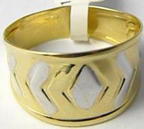 Pretis Mohutný velký zlatý prsten z kombinace zlata 585/1,65gr P422