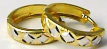 Pretis Dámské zlaté kruhy z dvojího zlata bílé a žluté 585/1,25gr P423
