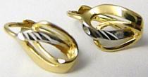 Pretis Dámské zlaté náušnice v kombinaci zlata klasické zapínání 585/1,40gr P428