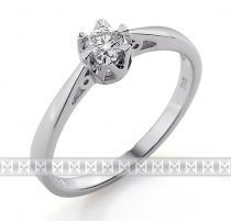 Pretis Luxusní zásnubní prsten s diamantem, bílé zlato brilianty 585/2,0gr