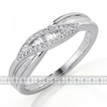 Pretis Luxusní zlatý prsten posetý pravými diamanty 35ks diamanty