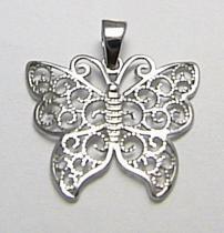 Holan Jaroslav Velký zlatý přívěsek z bílého zlata motýl 585/0,97gr H382