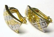 Pretis Dámské mohutné zlaté půlkruhy z bílého a žlutého zlata 585/1,57gr P215
