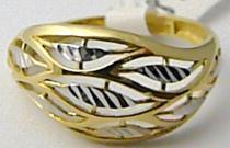 Holan Jaroslav Mohutný široký zlatý prsten z dvojího zlata 585/1,86gr H529