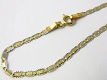 Holan Jaroslav Luxusní zlatý mohutný řetízek z bílého a žlutého zlata 40cm 585/2,36gr H577