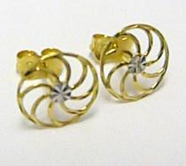 Pretis Zlaté pecičky ze žlutého a bílého zlata kroužky 585/0,72gr P332