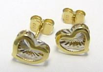 Pretis Zlaté pecičky z kombinace zlata ve tvaru srdce s gravírováním 585/1,17gr P333