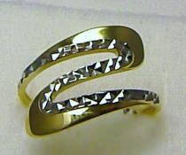 Holan Jaroslav Luxusní mohutný prstýnek v kombinaci zlata bílé x žluté 585/2,18gr H251