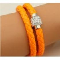 Náramek oranžový s magnetickým zapínáním NK023
