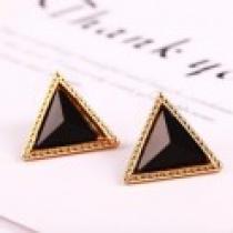 Náušnice černý trojúhelník NE145