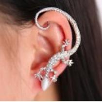 Náušnice na ucho ještěrka stříbrná NE228
