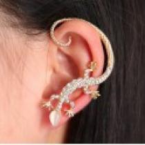 Náušnice na ucho ještěrka zlatá NE229