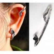 Náušnice na ucho s kytičkou NE231