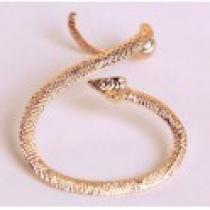 Náušnice na ucho had zlatá NE232