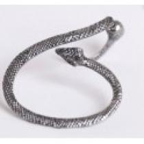 Náušnice na ucho had starostříbrná NE233