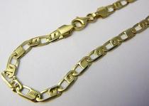 Marcello Diamant zlatý náramek šíře 4,5mm 21cm 585/4,90gr T188