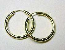 Marcello Diamant velké kruhy - 18mm 585/0,55gr T004