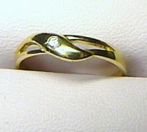 Marcello Diamant zlatý prstýnek se zirkonem 585/1,5gr - T013