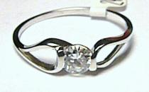 Soliter zásnubní zlatý prsten z bílého zlata a zirkonem 585/1,5gr S018