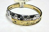 Pretis Módní zlatý prstýnek z bílého a žl. zlata 585/1,35gr P021
