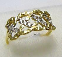 Holan Jaroslav velký zlatý prsten se zirkony 12ks 585/1,87gr H405