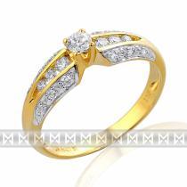 Pretis velký diamantový prsten GEMS diamonds, žluté zlato 585/2,2gr