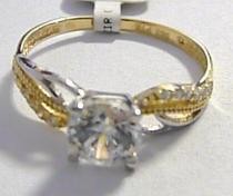 Pretis zásnubní zlatý prsten s velkým zirkonem 585/1,75gr P046