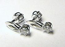 Optima Diamant diamantové náušnice z bílého zlata 585/1,13gr - diamant 0,228ct