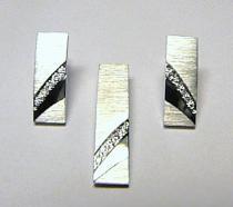 Optima Diamant Pravé diamantové náušnice z bílého zlata 585/3,83gr - 10ks DIAMANT