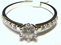 Pretis zásnubní prsten z bílého zlata posetý zirkony 13ks/2,22gr P096