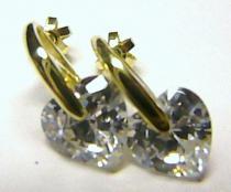 Zlatokov náušnice s velkými srdíčky 585/3,23gr Z111