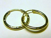 Marcello Diamant kruhy ze žlutého zlata 585/0,55gr T047