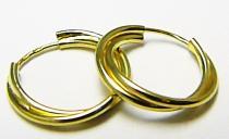 Zlatokov dvojité kruhy náušnice 15mm 585/1,29gr Z056
