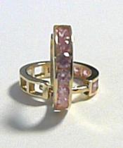 Pretis kruhy - s růžovými zirkony 585/1,15gr 12mm P239