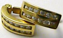 Marcello Diamant čtvrtkroužky - náušnice 585/2,7gr T177
