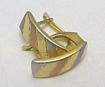 Holan Jaroslav náušnice z kombinace trojího zlata 585/1,79gr H264