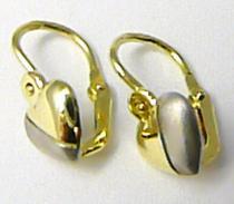 Zlatokov Dětské náušnice v kombinaci bílého a žlutého zlata 585/1,01gr Z074