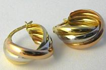 Holan Jaroslav velké kruhy z trojího zlata 585/1,76gr H618