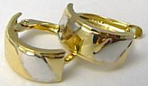 Pretis náušnice v kombinaci bílého a žlutého zlata 585/1,55gr P475