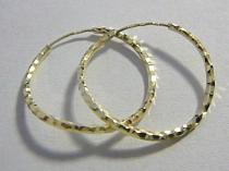 Pretis kroužky s gravírováním - kruhy 20mm 585/1,02gr P035