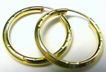 Marcello Diamant velké kruhy - 20mm 585/0,75gr T062