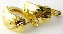 Holan Jaroslav náušnice půlkruhy ze žlutého zlata 585/1,43gr H518