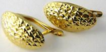 Holan Jaroslav náušnice ze žlutého zlata s gravírováním 585/1,88gr H523