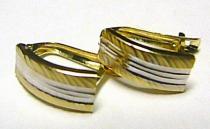 Pretis náušnice v kombinaci zlata 585/1,25gr P162