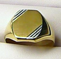 Marcello Diamant zlatý prsten - dvojí zlato 585/5,37gr T085