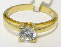 Pretis Zásnubní zlatý prsten s velkým zirkonem 585/2,9gr P325